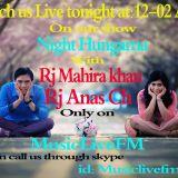 Tonight Rj_Anas_ch + Rj_Mahira combaine show in MLFr 04_02_2018