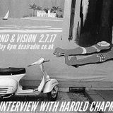 SOUND & VISION With David Augustin 2.7.17 HAROLD CHAPMAN interview