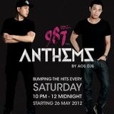 DJ Andrew T 1st Set of 987 Anthems with AOS DJs 21 July 2012