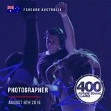 Photographer - Live @ FSOE400 Festival Hall (West Melbourne, Victoria, Australia) [2015-08-08]