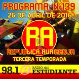 RA. Programa N°139 26-04-2016