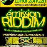 Emission RIDDIM 6 janvier 2014