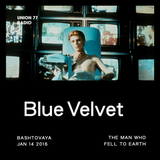 Blue Velvet @ UNION 77 RADIO 14.01.2016 'The Man Who Fell to Earth'