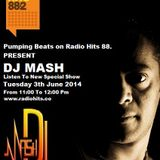 Dj Mash Live @  Pumping Beats on Radio Hits 88.2 (3-6-2014)