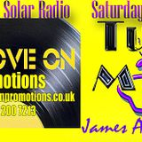 Turn the Music Up Show  James Anthony  Rob James on Solar Radio with Groove On promotions 09 08 2014