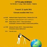 """""""Giornata Mondiale della Terra"""" alla Città della Scienza: Prof.ssa Josette Immè"""