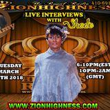 SHADE LIVE INTERVIEW WITH DJ JAMMY ON ZIONHIGHNESS RADIO 032018
