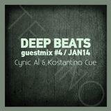 DEEP BEATS guestmix#4 - Cynic Al & Kostantino Cue