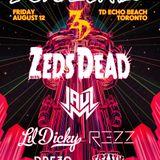 Zeds Dead - Live @ Deadbeats, TD Echo Beach (Toronto, Canada) - 12.08.2016