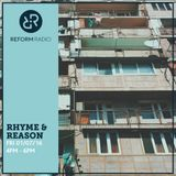 Rhyme & Reason 1st July 2016