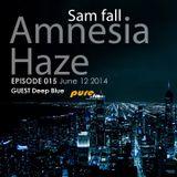 Sam Fall & Deep Blue Guest - Amnesia Haze 015 [June 12 2014]on Pure.FM