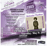 LiveLifeInThePURPLE Show with MLuV 05-09-2017 Guests:Nezhar TheStar and Sam Rapier