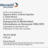 Charla en torno a la exposición Impugnando la Modernidad: Informalismo en Venezuela 1955-1975