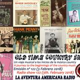 122- Old Time Country Shots (3 Febrero 2018)