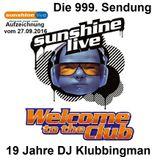 Sunshine Live ''Welcome to the Club'' (999 Sendung) vom 27.09.2016