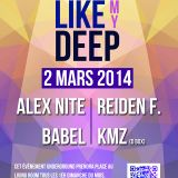 Alex Nite @ LIKE MY DEEP (Living Room - Strasbourg) - Opening Season