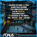 McGutter - Global Bass Sessions on Fokus FM October 2014 *1 Year Anniversary Show*
