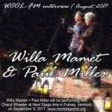 Willa Mamet + Paul Miller: WOOL-FM interview, August 2017