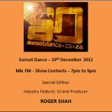 Sunset Dance 2012 12 29 - MixFM - Podcast 2 Hours
