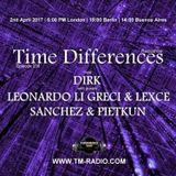Sanchez & Pietkun - Guest Mix - Time Differences 256 (2nd April 2017) on TM-Radio