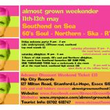 Almost Grown weekender taster - coming on 11th / 12th / 13th May 2012