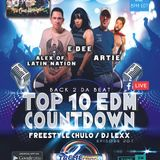 Top 10 EDM Countdown Special Guests Alex of LN , E'Dee and Artie Rodriquez ep 201 4-24-18