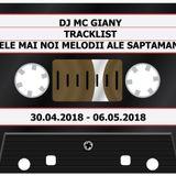 227 - DJ MC GIANY - TRACKLIST - CELE MAI NOI MELODII ALE SAPTAMANII (30.04.2018 - 06.05.2018)