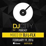 DJ L-FLX - DJcity Benelux Podcast - 19/02/16