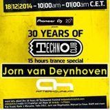 18.12.2014 - 30 Years of Technoclub Special on Afterhours FM - Jorn van Deynhoven(18:00 - 19:00 CET)