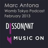 Marc Antona - Womb Tokyo Podcast, February 2013