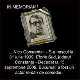 Divertisment cu ... regretatul actor Nicu Constantin.