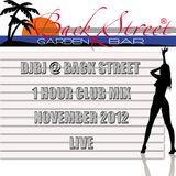 DjBj @ Back Street 1 Hour Club Mix November 2012 Live