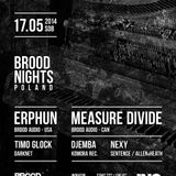 Timo Glock - BROOD NIGHTS with ERPHUN @ INQ, Katowice 17.05.2014
