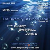 CJ Art - Guest Mix - The Diversity Of Progressive 08 (16th April 2014) 0n Deep House Parade