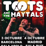 Warm Up (The Neighbour) Toots & the Maytals 3 octubre Sala Apolo
