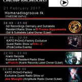 23h-24h (gmt+1) KATO PrOmO-Factory Excl. Guest Radio Show w/Joe Maeght (Amplitude Radio Owner DJset)