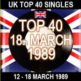 UK TOP 40 12-18 MARCH 1989