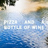 s/t radio: pizza + a bottle of wine
