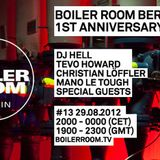 DJ Hell at Boiler Room - Berlin [August 29, 2012]