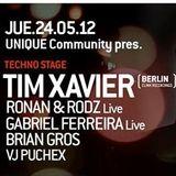 Unique Community - Tim Xavier @ Mandarine 24-05-12
