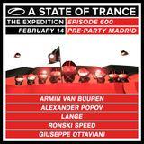 Armin Van Buuren - Live @ A State Of Trance 600 Madrid (Warm Up Set) [14.02.2013]