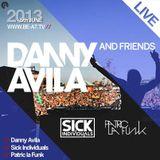 Patric La Funk - Live @ Danny Avila & Friends Amsterdam Studio (Netherlands) 2013.06.05.