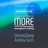 StereoDeep - MORE Mix @ Negroni 13.10.2018