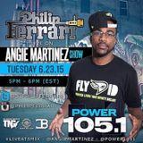 Philip Ferrari LIVE On Power105.1's Angie Martinez Show Live At 5 Mix 6-23-15 (Clean)
