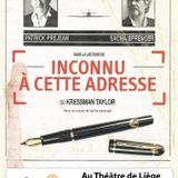 "Patrick Préjean et Sacha Sprenger à l'affiche de ""Inconnu à cette adresse"" à Liège"