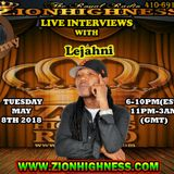 LEJAHNI LIVE INTERVIEW WITH DJ JAMMY ON ZIONHIGHNESS RADIO 050818