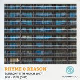 Rhyme & Reason 11th March 2017