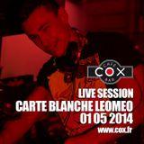 COX Live session Carte Blanche @ LEOMEO 01 05 2014