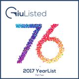 GiuListed #076 - 2017 YearList (Part 2)