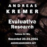 ANDREAS KREMER - Evaluative Research 20.03.2001 - TEKKNO DJ MIX - andreaskremer.net